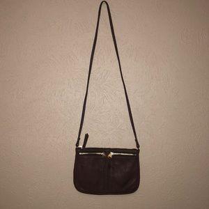 Fossil mahogany cross body purse